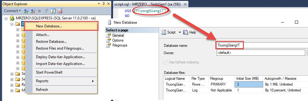 cách import file .sql vào sql server, ATPWeb.vn - Khởi tạo ngôi nhà Online.